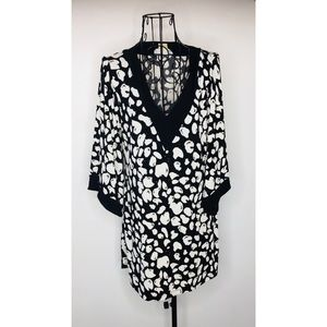 Michael Kors Black and White Tunic